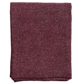 Klippan Swedish Wool Peak Throw-Bordeaux