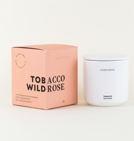 Homecoming Candles Homecoming Candles-Tobacco Wild Rose Deluxe Ceramic Candle