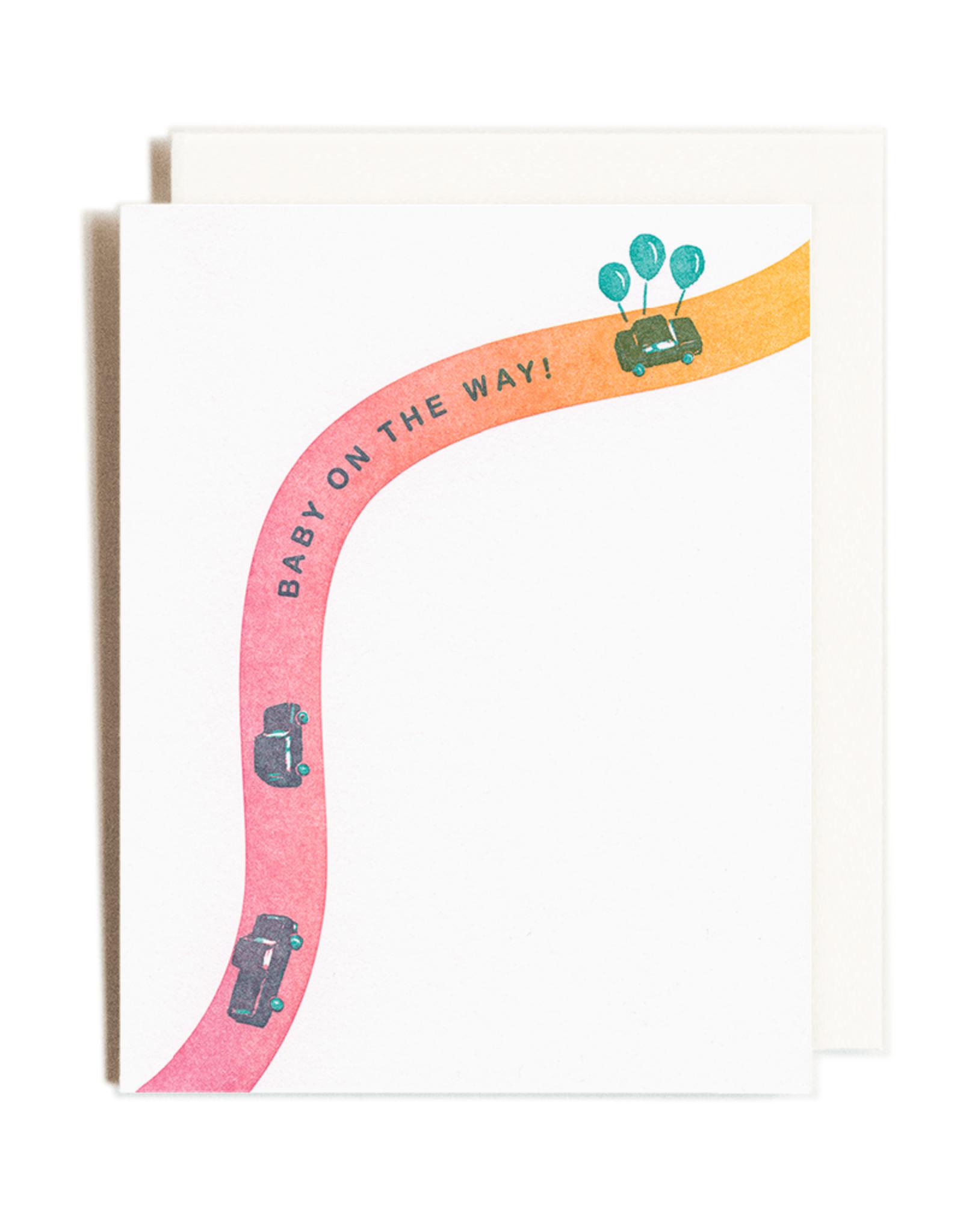 Homework Letterpress Homework Letterpress Baby On The Way Card
