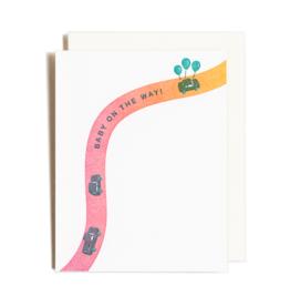 Homework Letterpress Baby On The Way Card