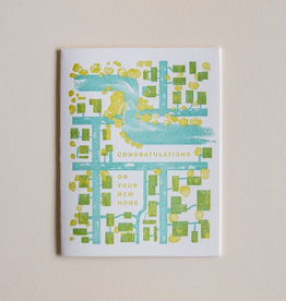 Homework Letterpress New Home Card