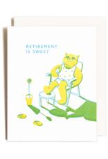 Homework Letterpress Homework Letterpress Retirement Bear Card