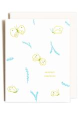 Homework Letterpress Homework Letterpress Sympathy Butterflies Card