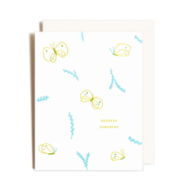 Homework Letterpress Sympathy Butterflies Card
