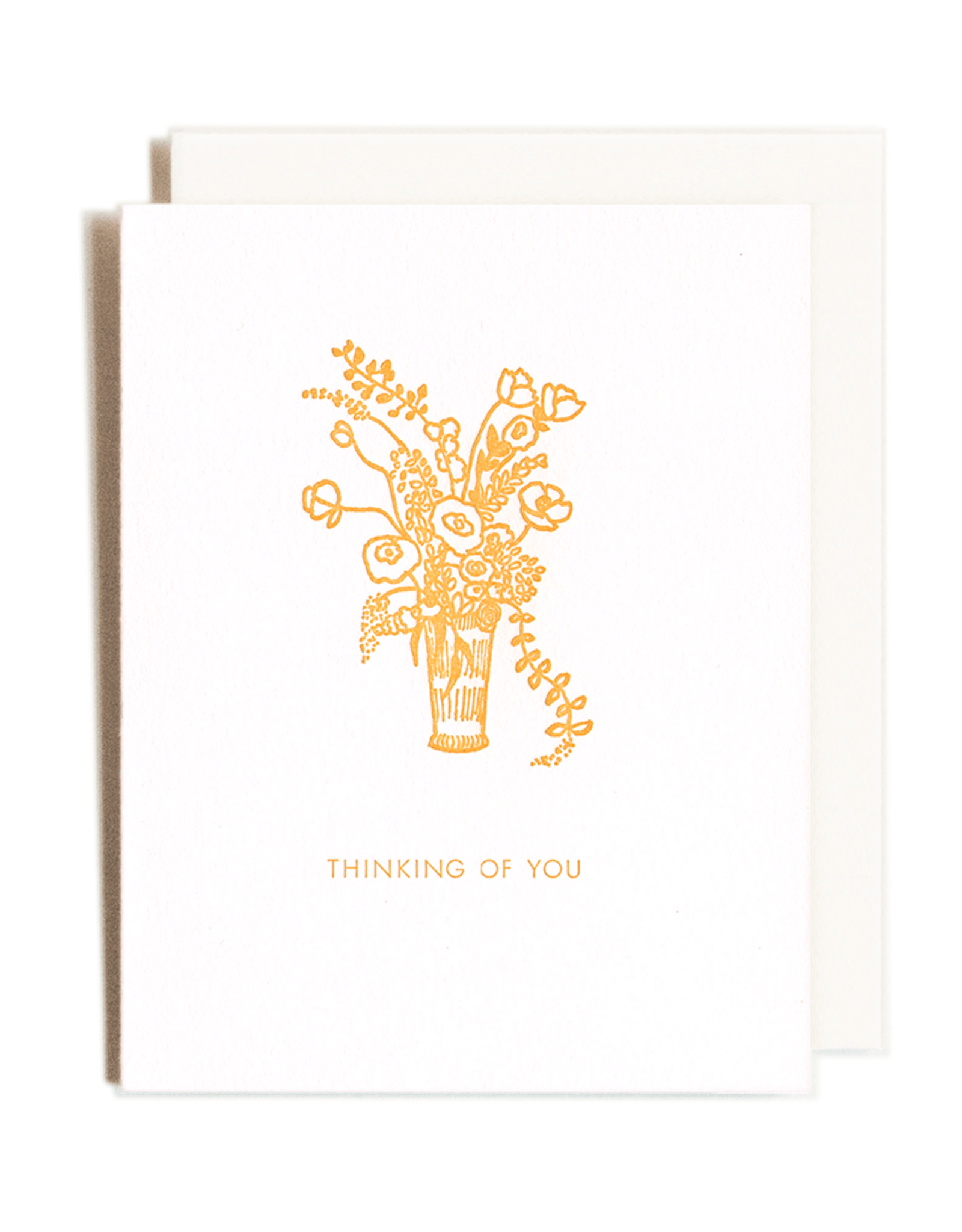 Homework Letterpress Homework Letterpress Thinking Of You Bouquet Card