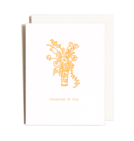 Homework Letterpress Thinking Of You Bouquet Card