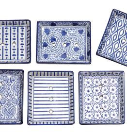 Redecker Rectangular Soap Dish-Ceramic-Varied Designs