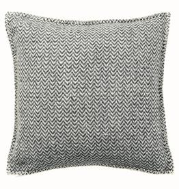 Klippan Swedish Wool Chevron Cushion -Grey
