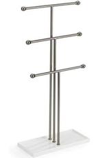 Umbra Umbra Trigem Jewelry Stand-White-Nickel