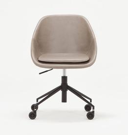 EQ3 EQ3 Nixon Office Chair - Grey Leather