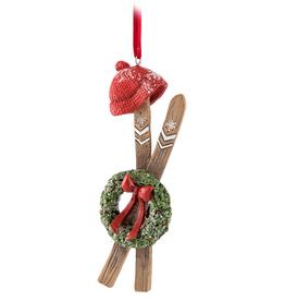 Abbott Abbott Skis With Wreath Ornament