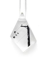 Black Drop Designs Geo Crow Pole Pendant