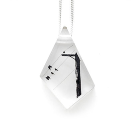 Black Drop Designs Black Drop Designs Geo Crow Pole Pendant