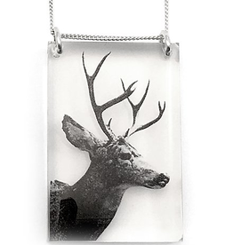 Black Drop Designs Black Drop Designs Tall Deer Pendant