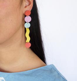 Scandinazn Scandinazn Long Squiggle Earrings