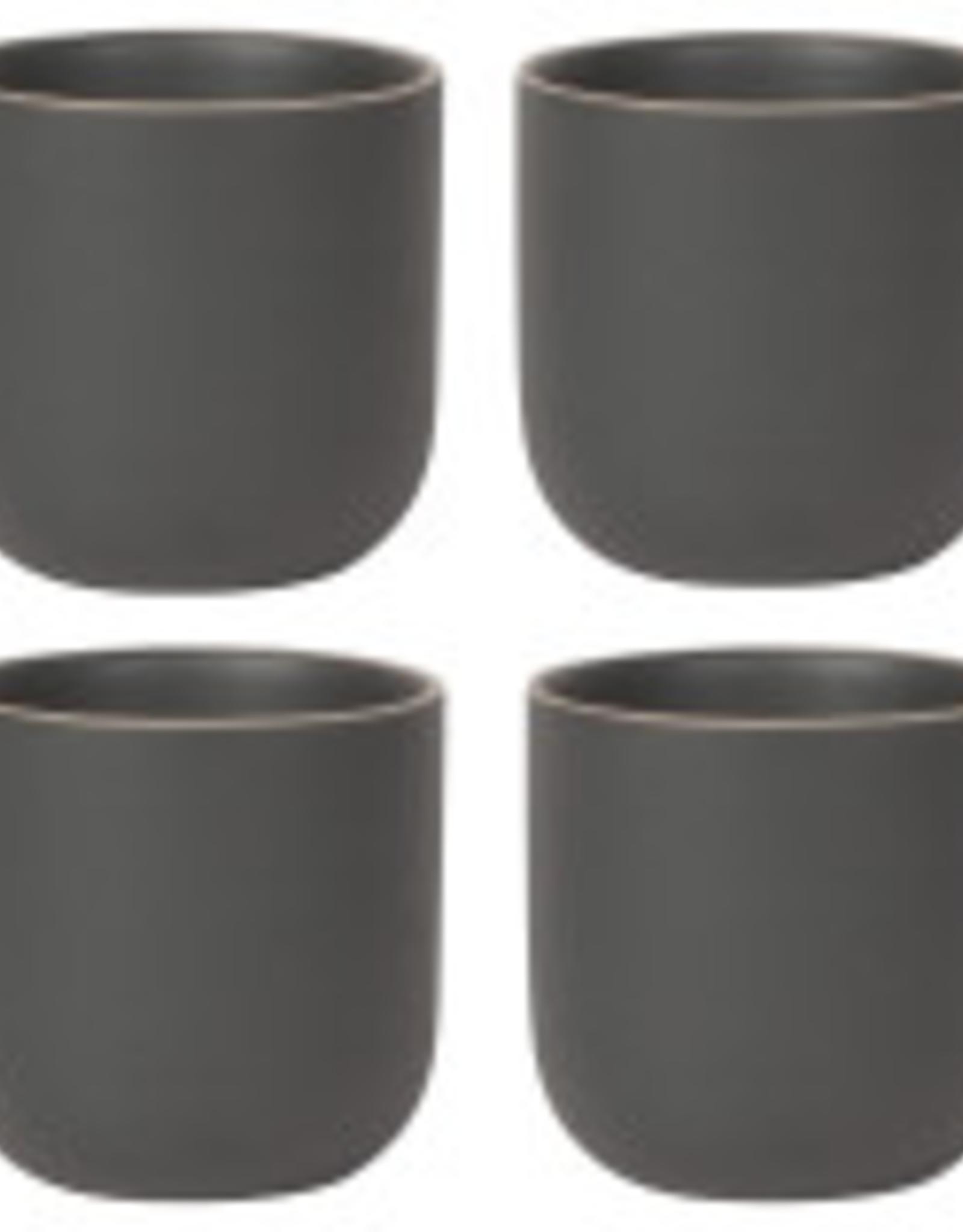 Danica Danica Orb Teacup-Set 4-Black