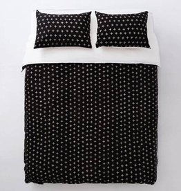 EQ3 EQ3 Knox Duvet Set-Queen-Black