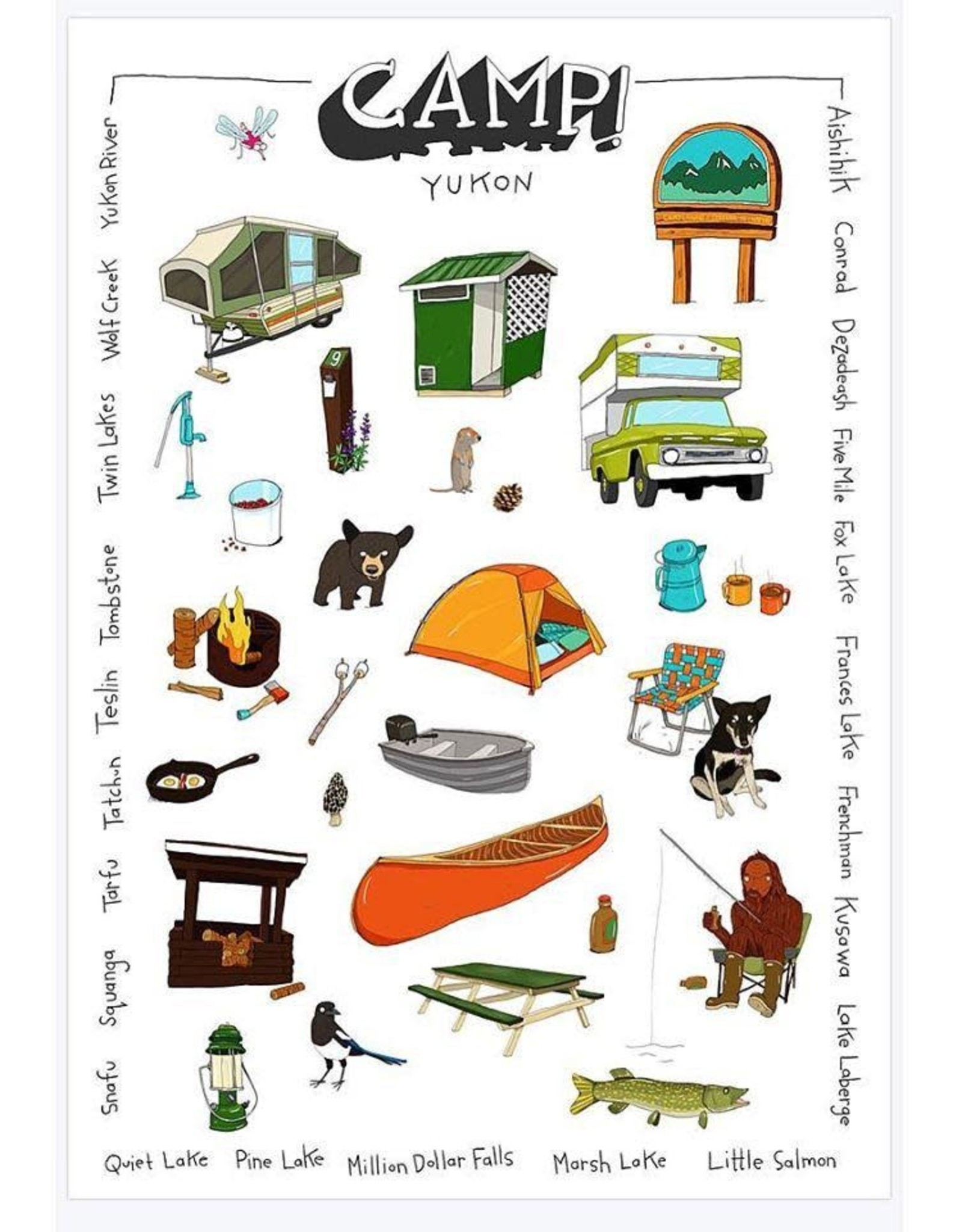 The Collective Good The Collective Good Camp Tea Towel