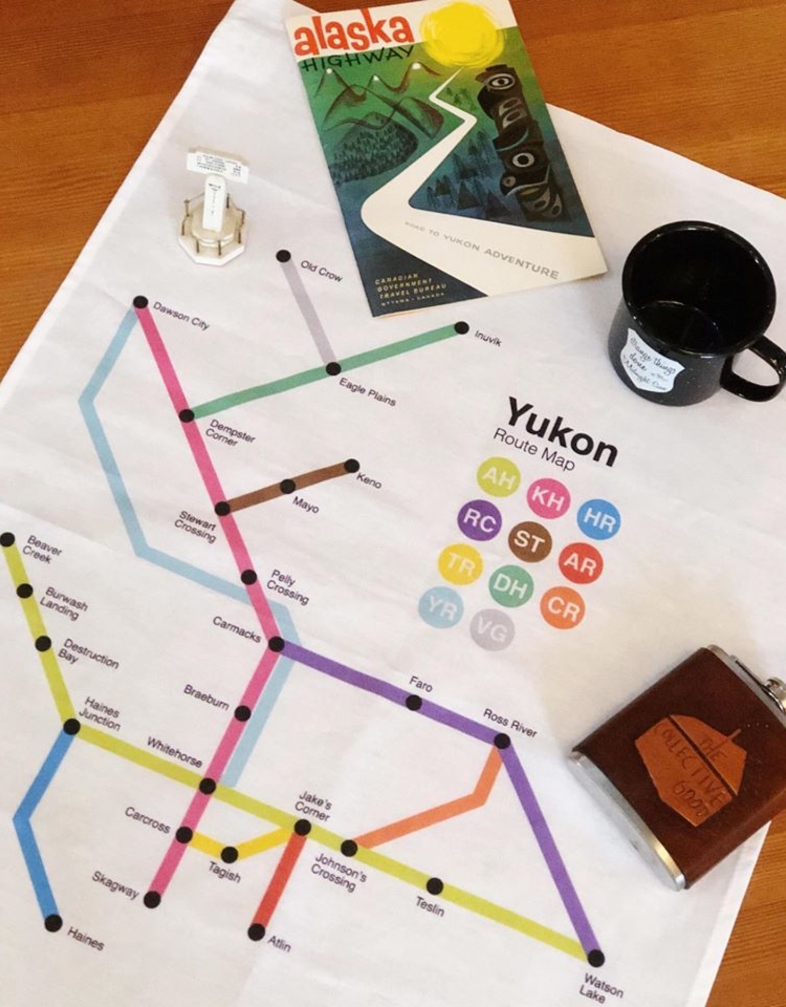 The Collective Good The Collective Good Route Map Tea Towel