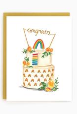 Brockton Village Brockton Village Rainbow Cake Wedding Card