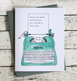 Brockton Village Typewriter Card