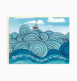 Brockton Village Waves Wedding Card