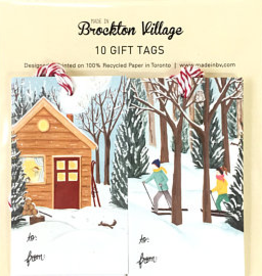 Brockton Village Brockton Village Winter Cottage And Cross Country Gift Tags
