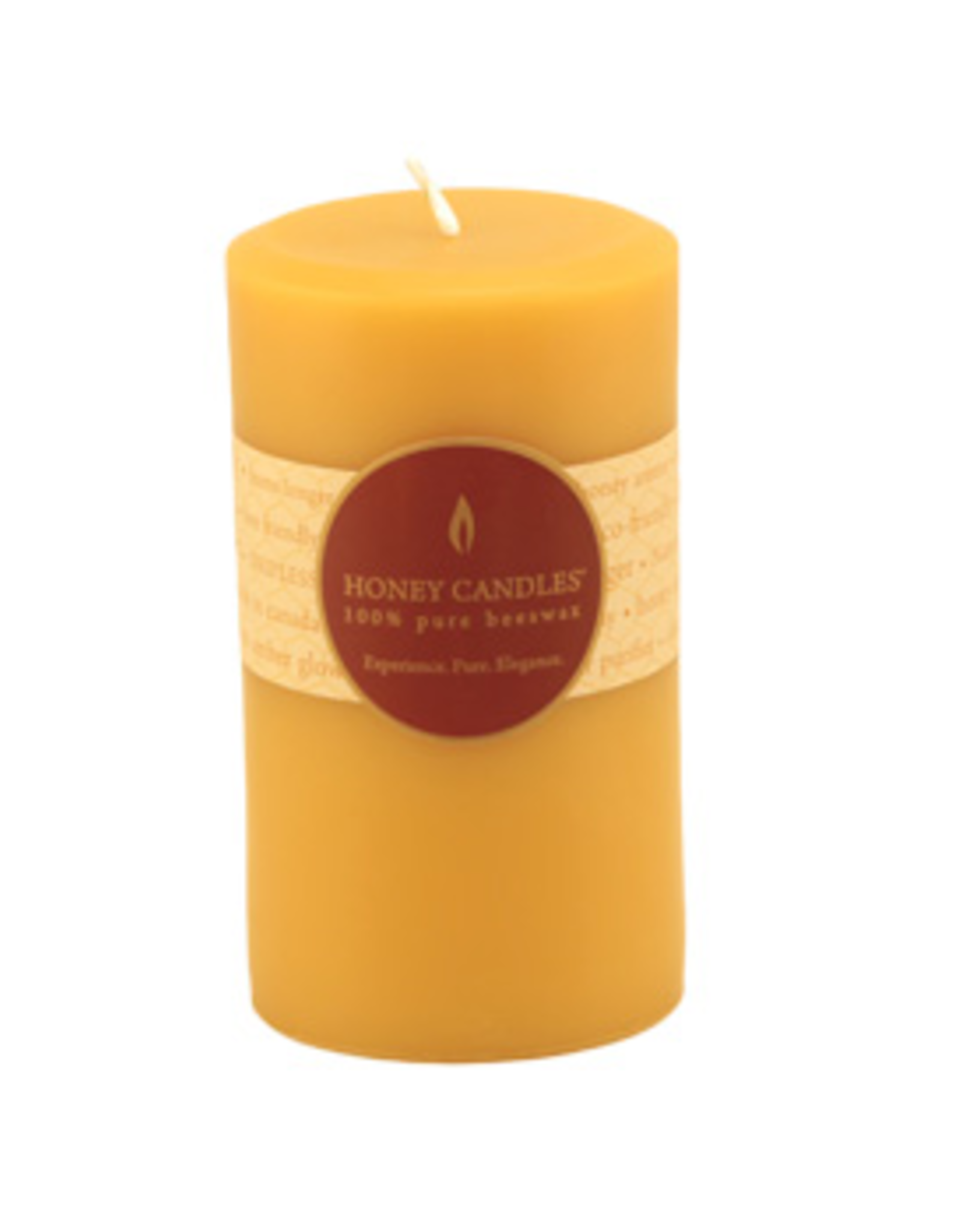 "Honey Candles Honey Candles 5"" Round Pillar-Natural"