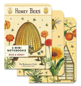 Cavallini Papers Bees And Honey Mini Notebook Set