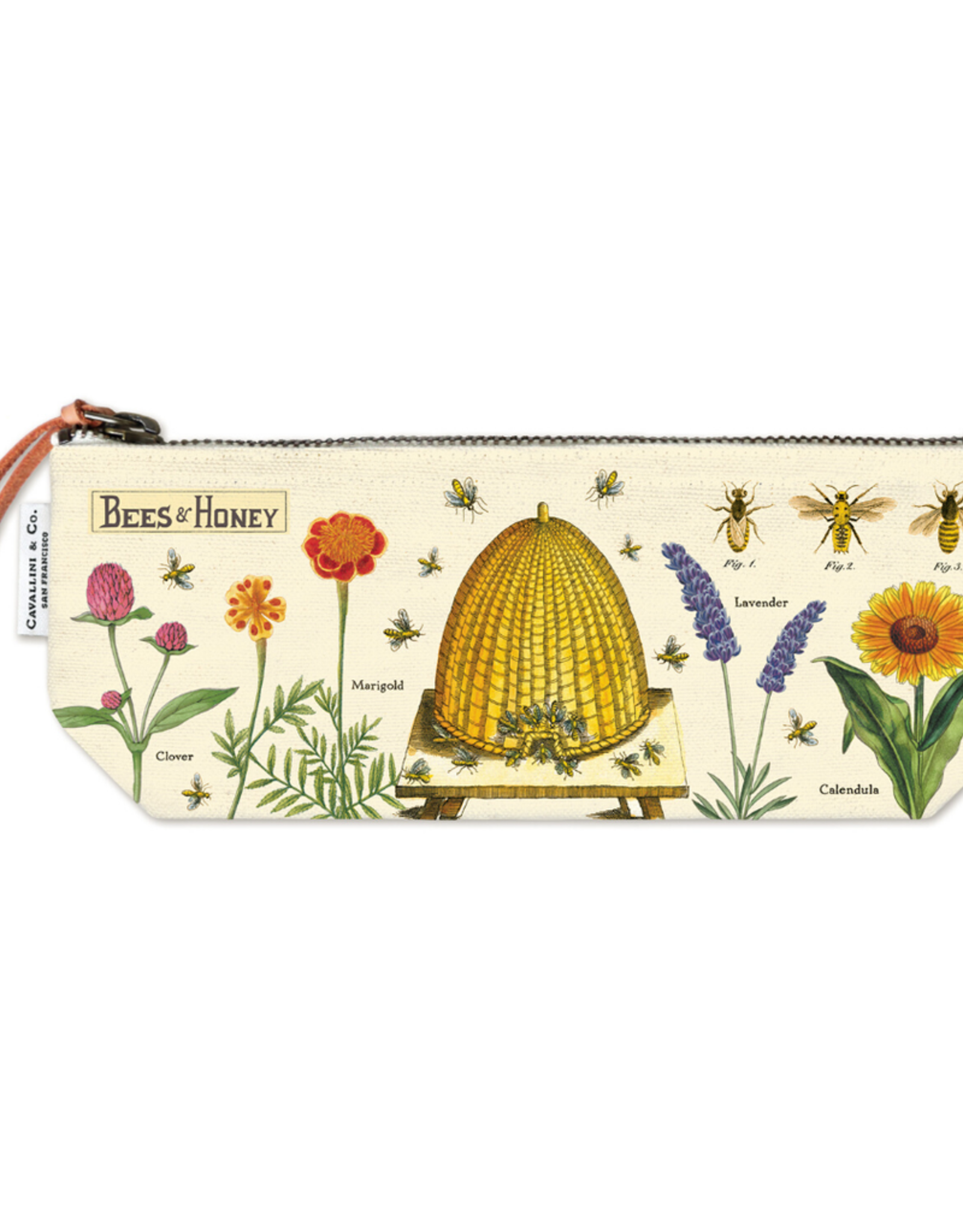 Cavallini Papers Cavallini Papers Bees And Honey Pouch