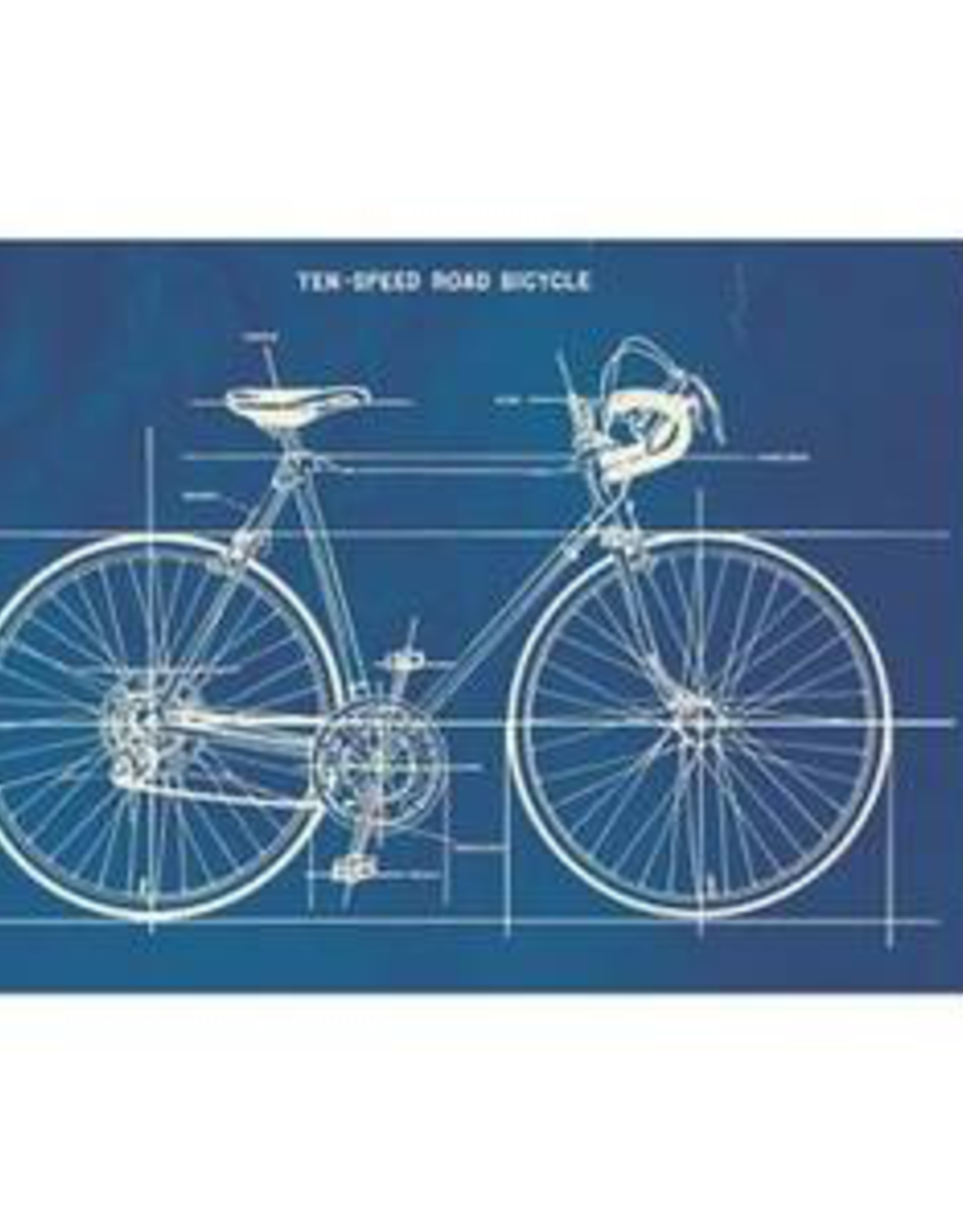 Cavallini Papers Cavallini Papers Bicycle Blueprint Card