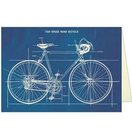 Cavallini Papers Bicycle Blueprint Card