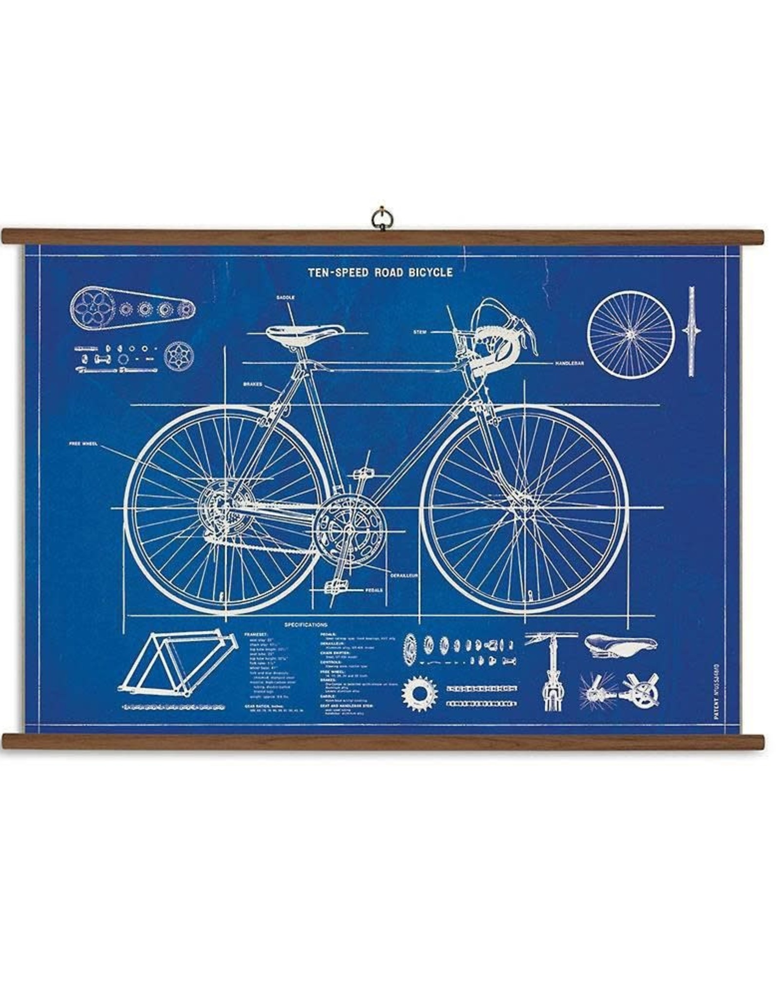 Cavallini Papers Cavallini Papers Bicycle Blueprint School Chart