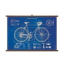Cavallini Papers Bicycle Blueprint School Chart
