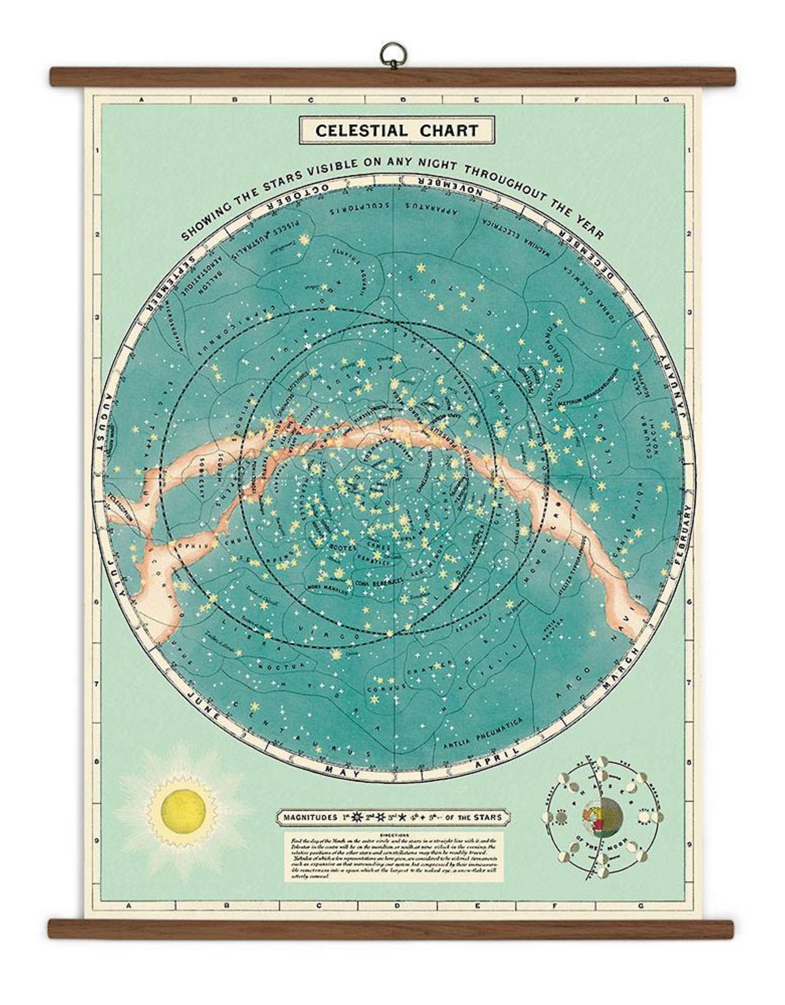 Cavallini Papers Cavallini Papers Celestial School Chart