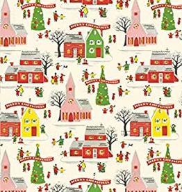 Cavallini Papers Cavallini Papers Christmas Village Wrap