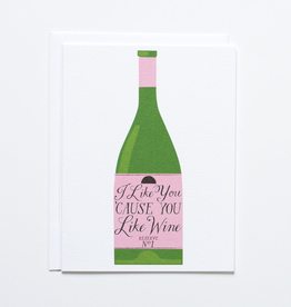 Banquet Workshop I Like You Wine Card