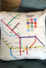 The Collective Good The Collective Good Yukon Route Map Pillow