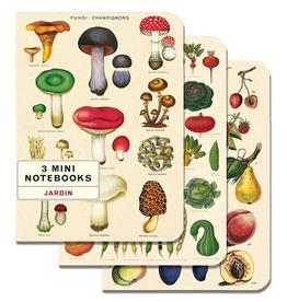 Cavallini Papers Le Jardin Mini Notebook Set