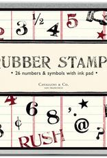 Cavallini Papers Cavallini Papers Numbers And Symbols Stamp Set
