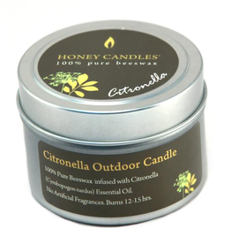 Honey Candles Honey Candles Essentials Tin Citronella