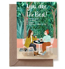 Paper E Clips Best Friends Card