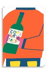 Paper E Clips Paper E Clips Congrats Bottle Card-5310