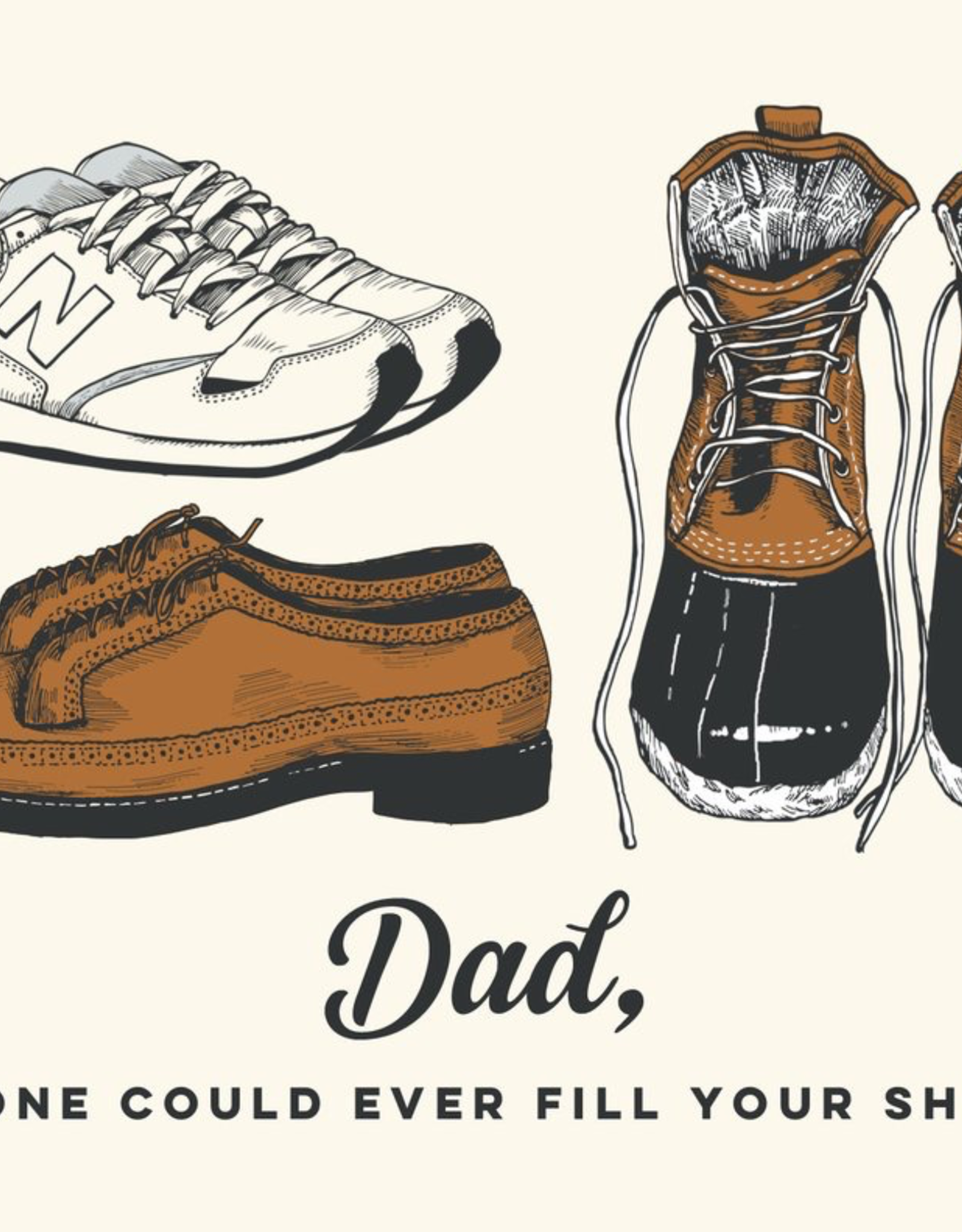 The Good Days Print Co The Good Days Print Co Dad Shoes Card