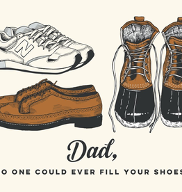 The Good Days Print Co Dad Shoes Card