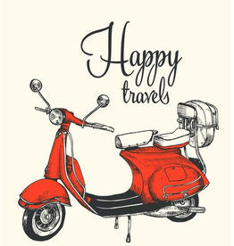 The Good Days Print Co Happy Travels Card