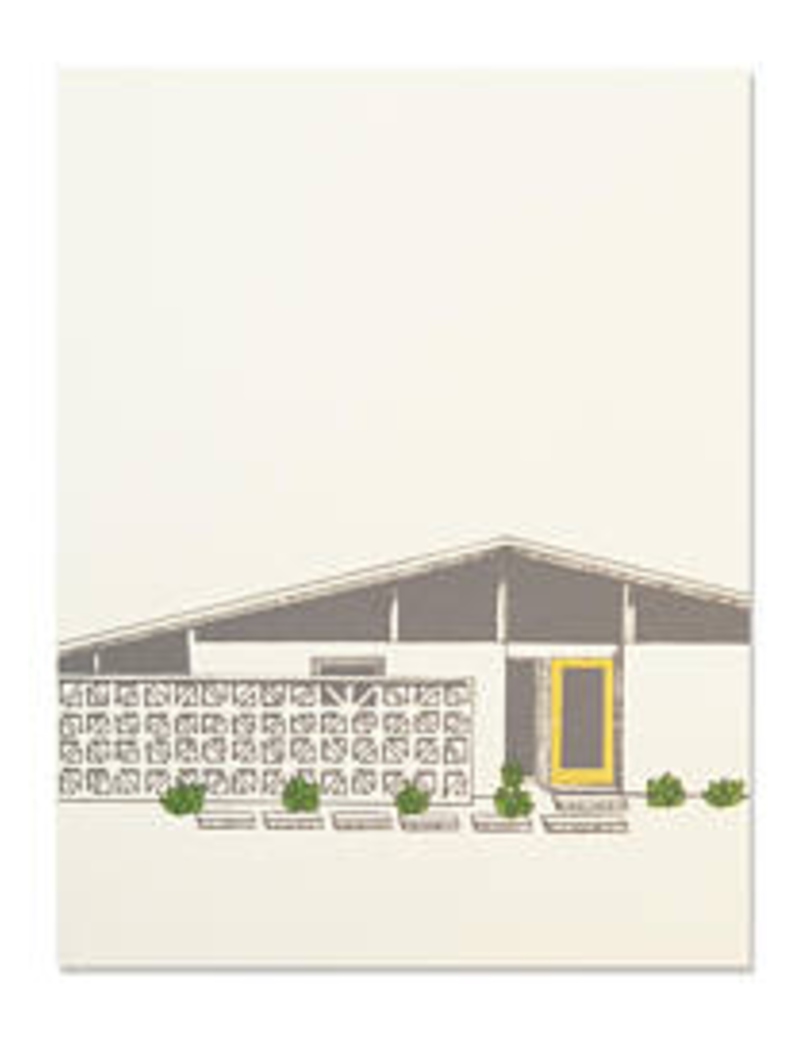 The Good Days Print Co The Good Days Print Co Midcentury House Card-Yellow