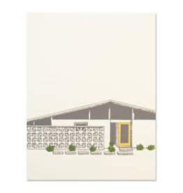 The Good Days Print Co Midcentury House Card-Yellow