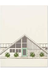 The Good Days Print Co The Good Days Print Co Midecentury House Card- Green