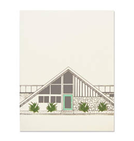 The Good Days Print Co Midcentury House Card- Green